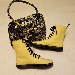 NWOT Dr. Martens Stratford yellow boots